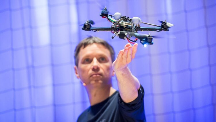 The astounding athletic power of quadcopters _ Raffaello D'Andrea